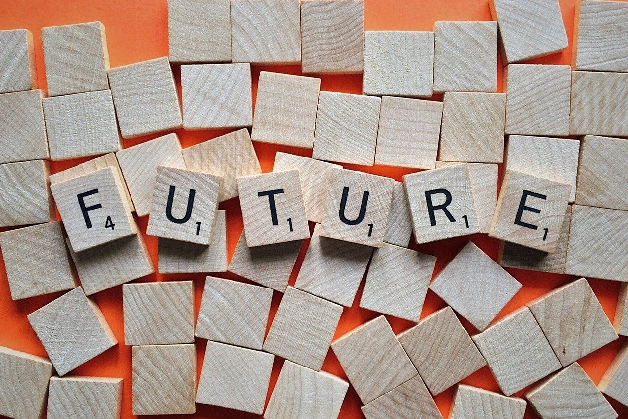 """Scrabble pieces spelling out """"FUTURE"""""""