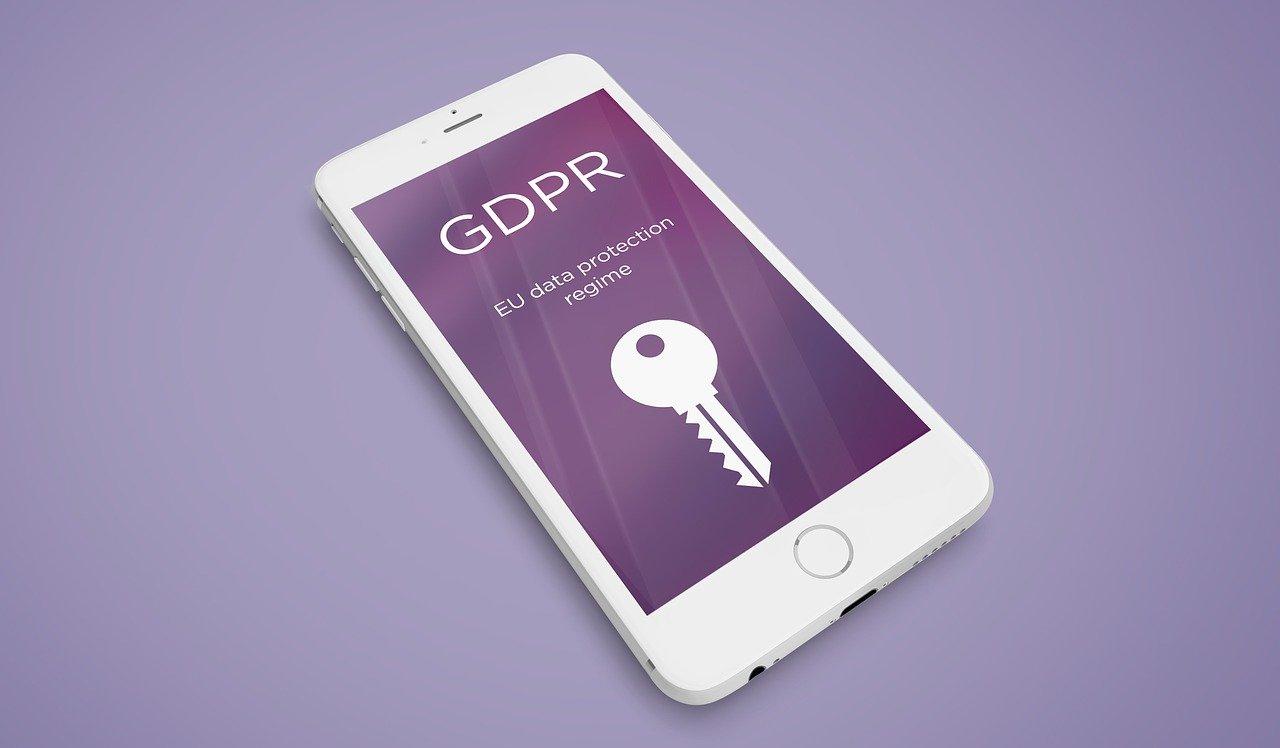 "phone screen text: ""GDPR EU data protection regime"""